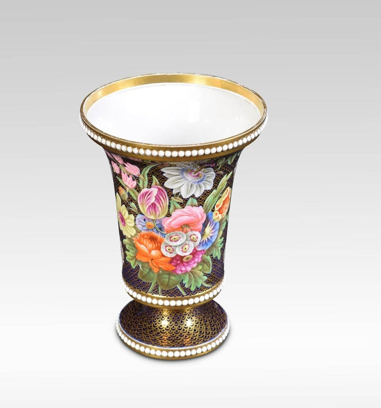 Regency Period Spode Porcelain Spill Vase For Sale 1