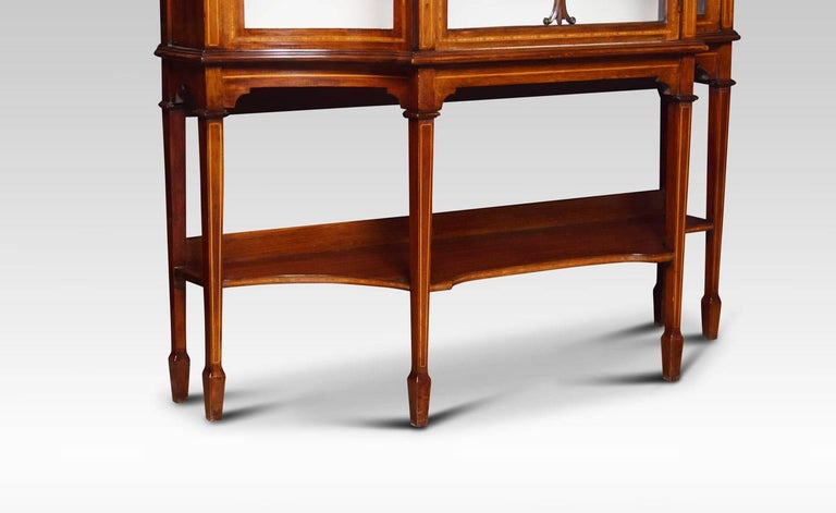 20th Century Edwardian Inlaid Mahogany Display Cabinet For Sale