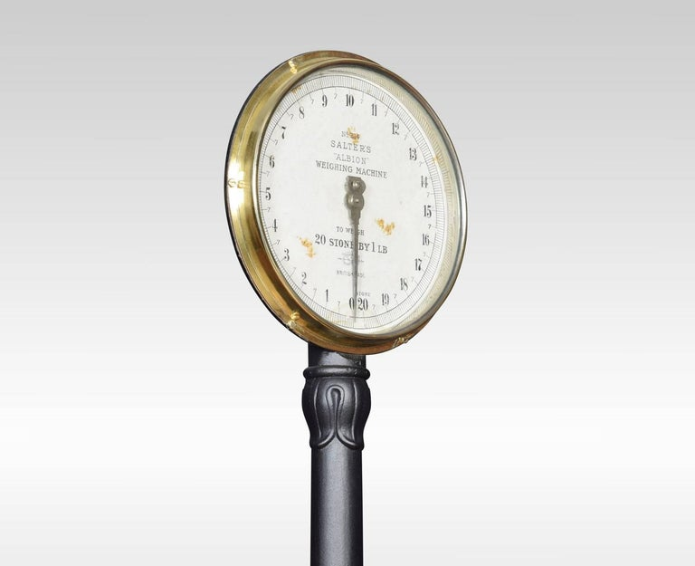 Salter Albion Cast Iron Bathroom Scales The Circular Scale Raised On A Slender Column With