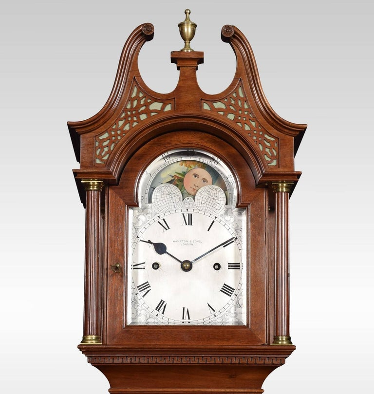 Mahogany Cased Grandmother Clock By Hampton And Son Pall Mall For