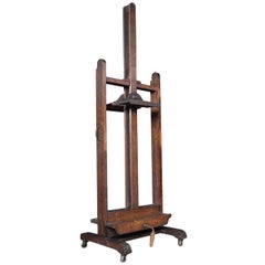 Oak Artist's Adjustable Studio Easel