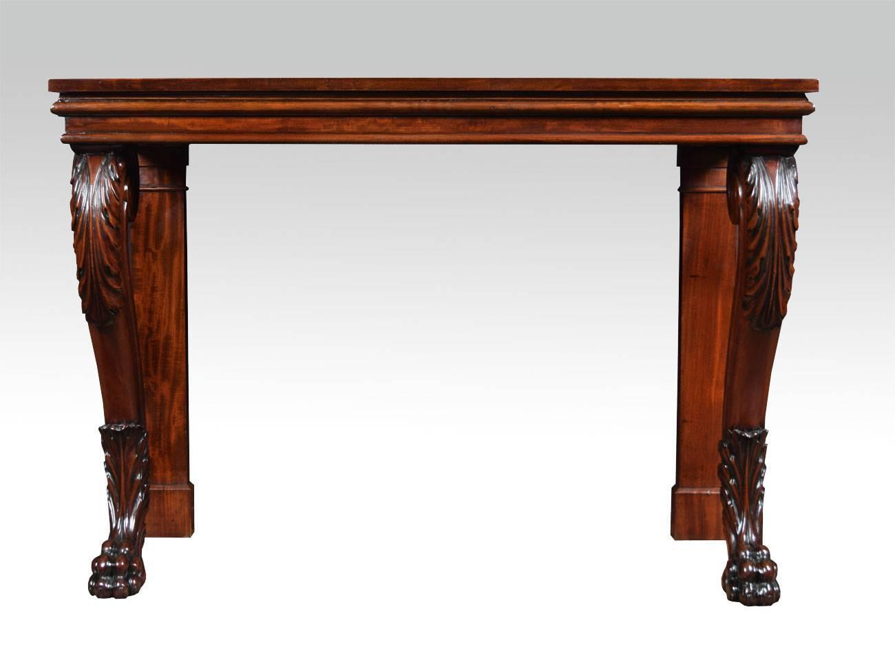Regency mahogany console table for sale at 1stdibs for 10 inch depth console table