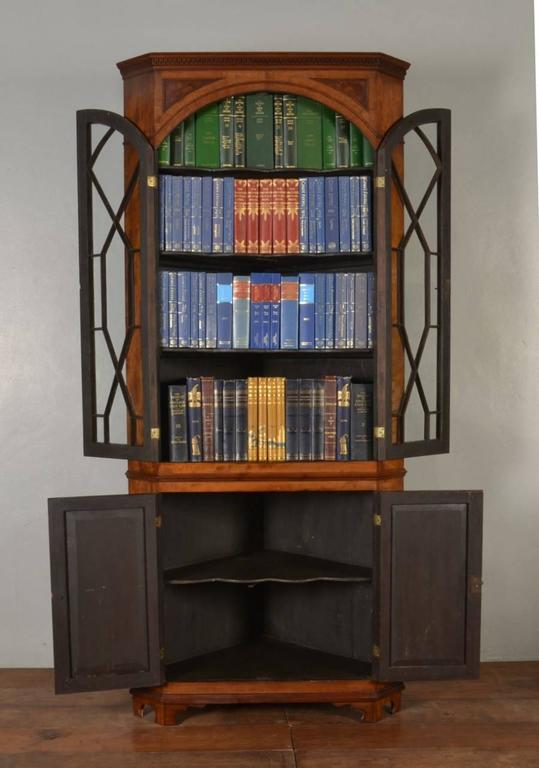 Mahogany Corner Display Cabinet 2