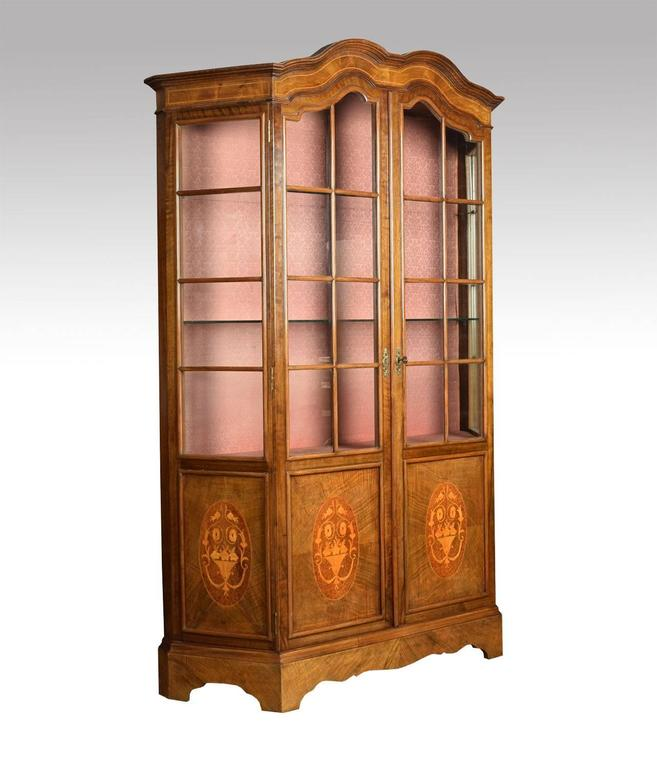Walnut Inlaid Display Cabinet 2