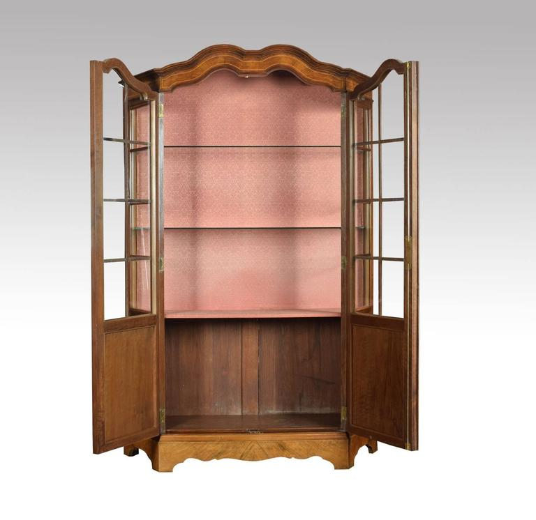 Walnut Inlaid Display Cabinet 3