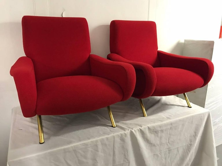 """Pair of """"Lady"""" Armchairs by Marco Zanuso for Arflex 3"""