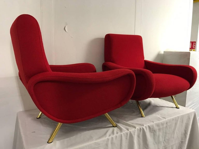 """Pair of """"Lady"""" Armchairs by Marco Zanuso for Arflex 4"""