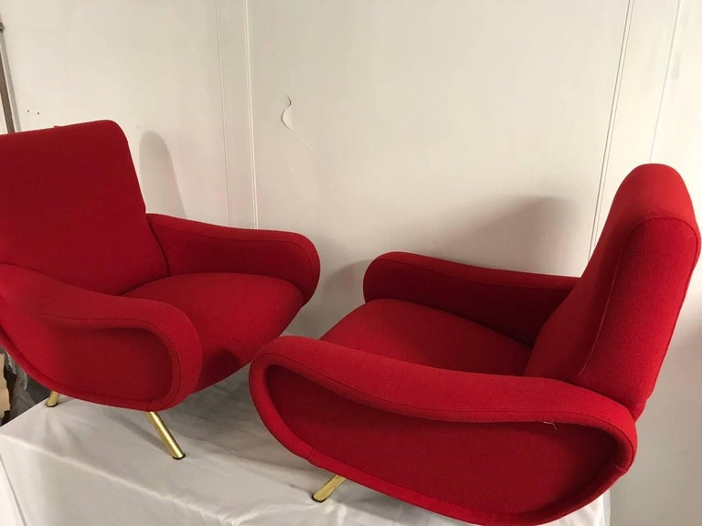 """Pair of """"Lady"""" Armchairs by Marco Zanuso for Arflex 7"""