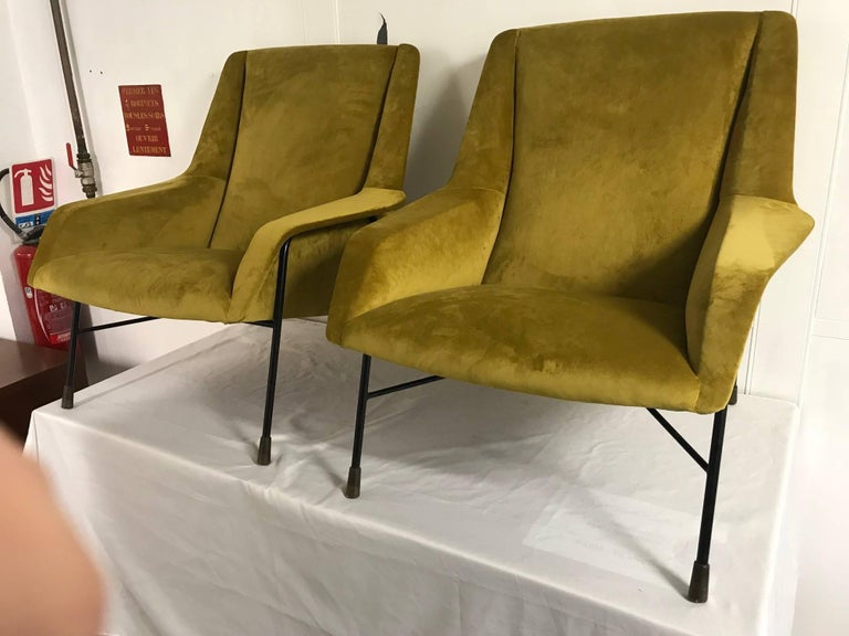 Pair of Italian Armchairs, 1960s For Sale 1