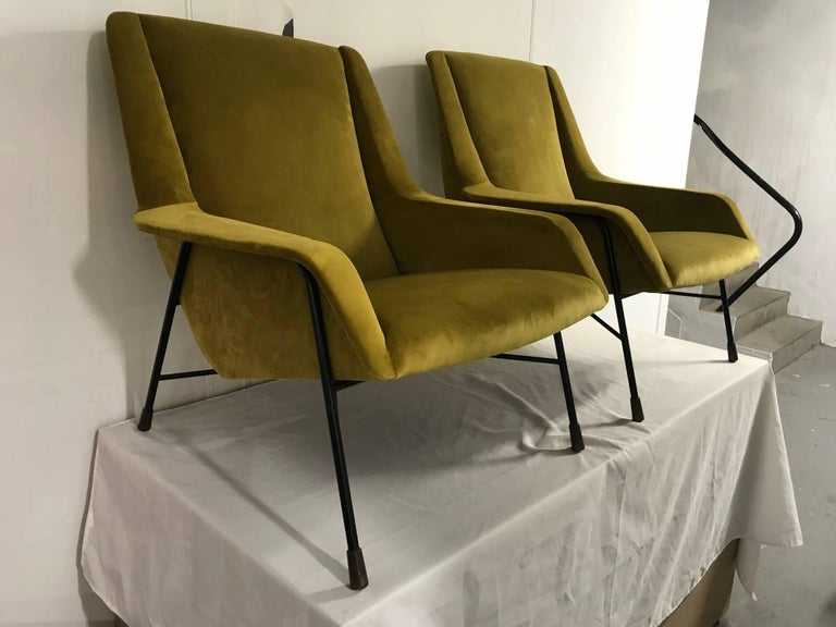 Pair of Italian Armchairs, 1960s For Sale 3