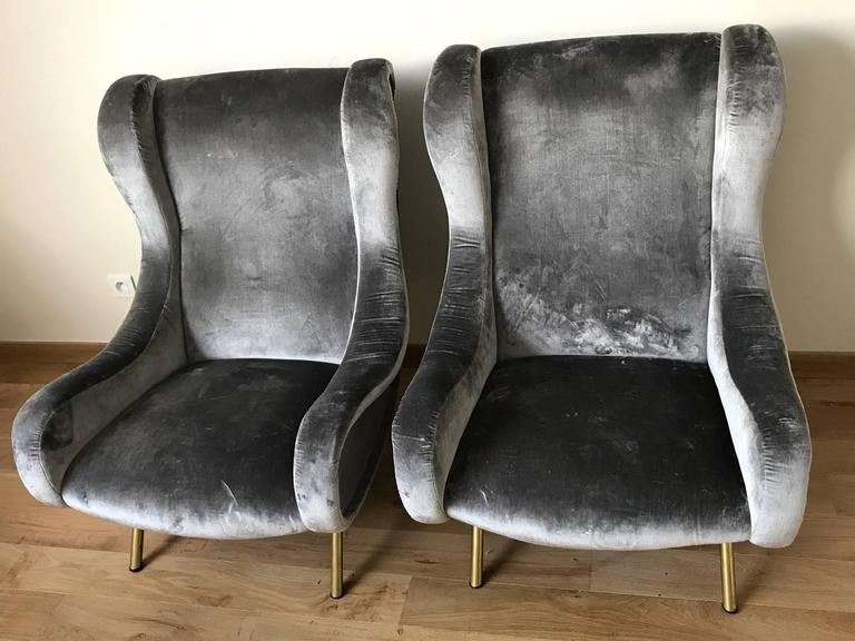 Pair of Senior armchairs by Marco Zanuso 2