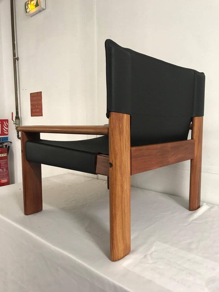 Wood Pair of OCA Armchairs For Sale