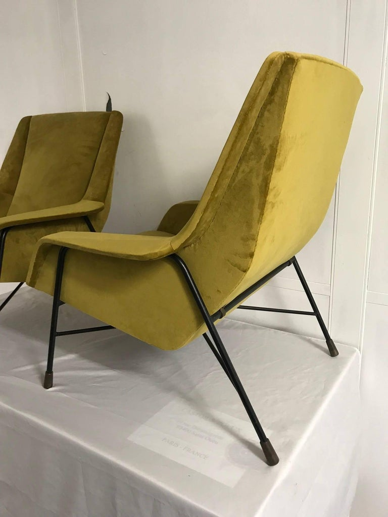 Pair of Italian Armchairs, 1960s In Good Condition For Sale In Paris, FR