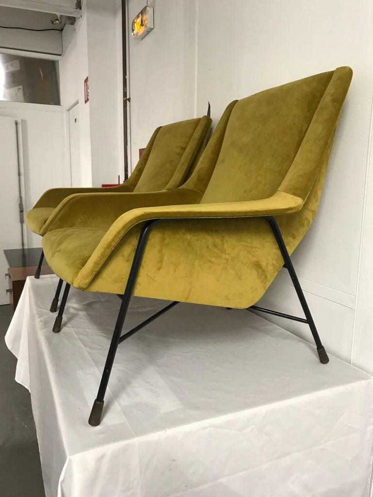 Pair of Italian Armchairs, 1960s For Sale 2