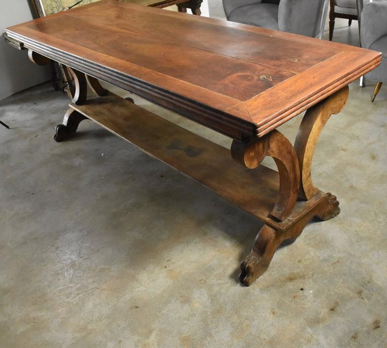 This Is Really A Handsome Walnut Table From France It Makes The Perfect Desk Or