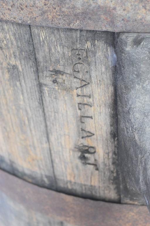 Vintage French Wood And Metal Stamped F Gaillart Wine