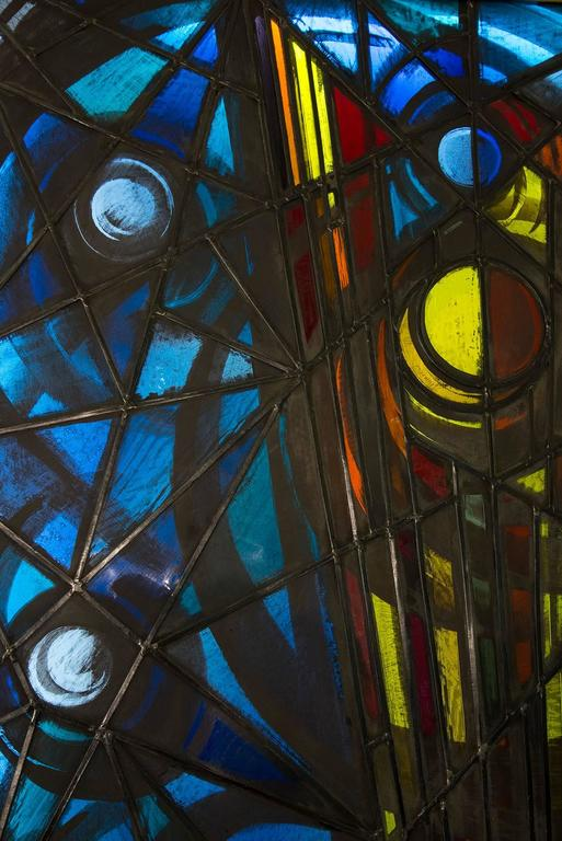 Extraordinary Illuminated Glass Panel By Luigi Vianello