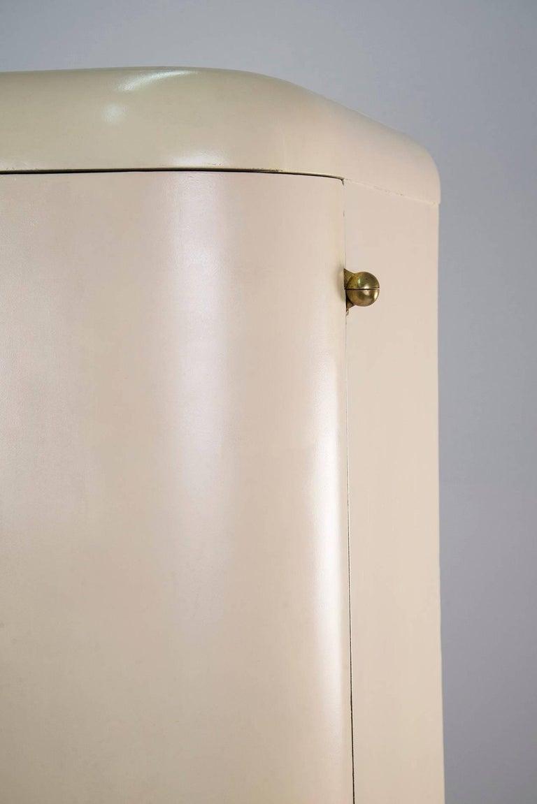 Brass 1930s White Wardrobe For Sale