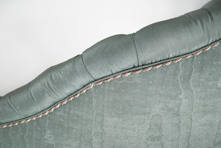 After Carlo Mollino Curved Capitonné Velvet Sofa, Italy, 1950s For Sale 2