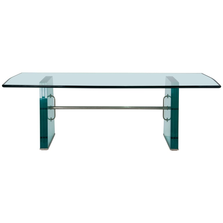 Pietro Chiesa Extraordinary Glass Dining Table for Fontana Arte, 1934