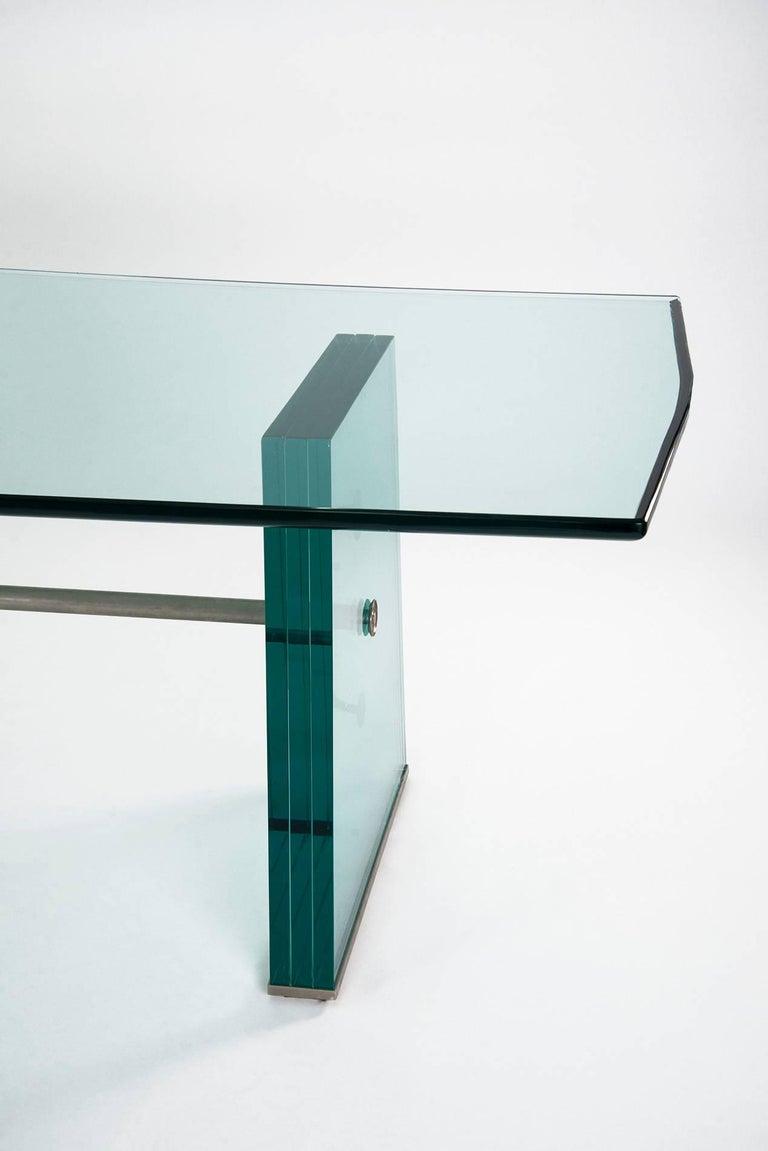 Mid-Century Modern Pietro Chiesa Extraordinary Glass Dining Table for Fontana Arte, 1934