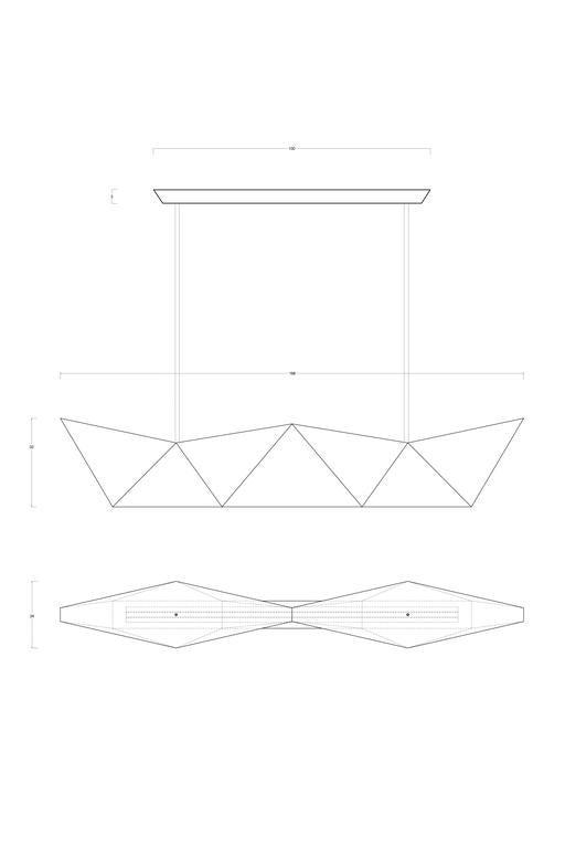 Chrome Ceiling lamp