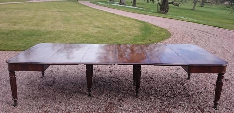 George IV 19th Century George iv Period Mahogany Antique Dining Table For Sale