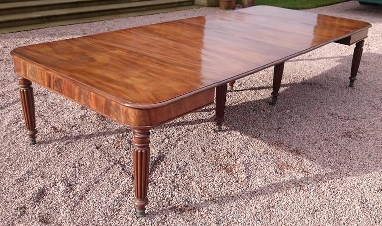 19th Century George iv Period Mahogany Antique Dining Table For Sale 1