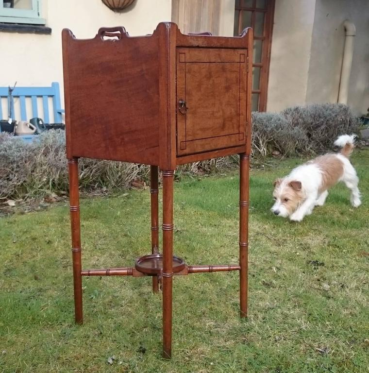 18th Century George III Period Mahogany Bedside Cupboard In Excellent Condition For Sale In Gloucestershire, GB