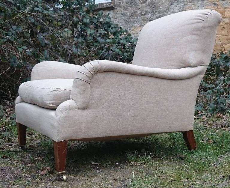 Antique Easy Armchair, This Is An Unusually Large Version Of The Grafton  Model Made By