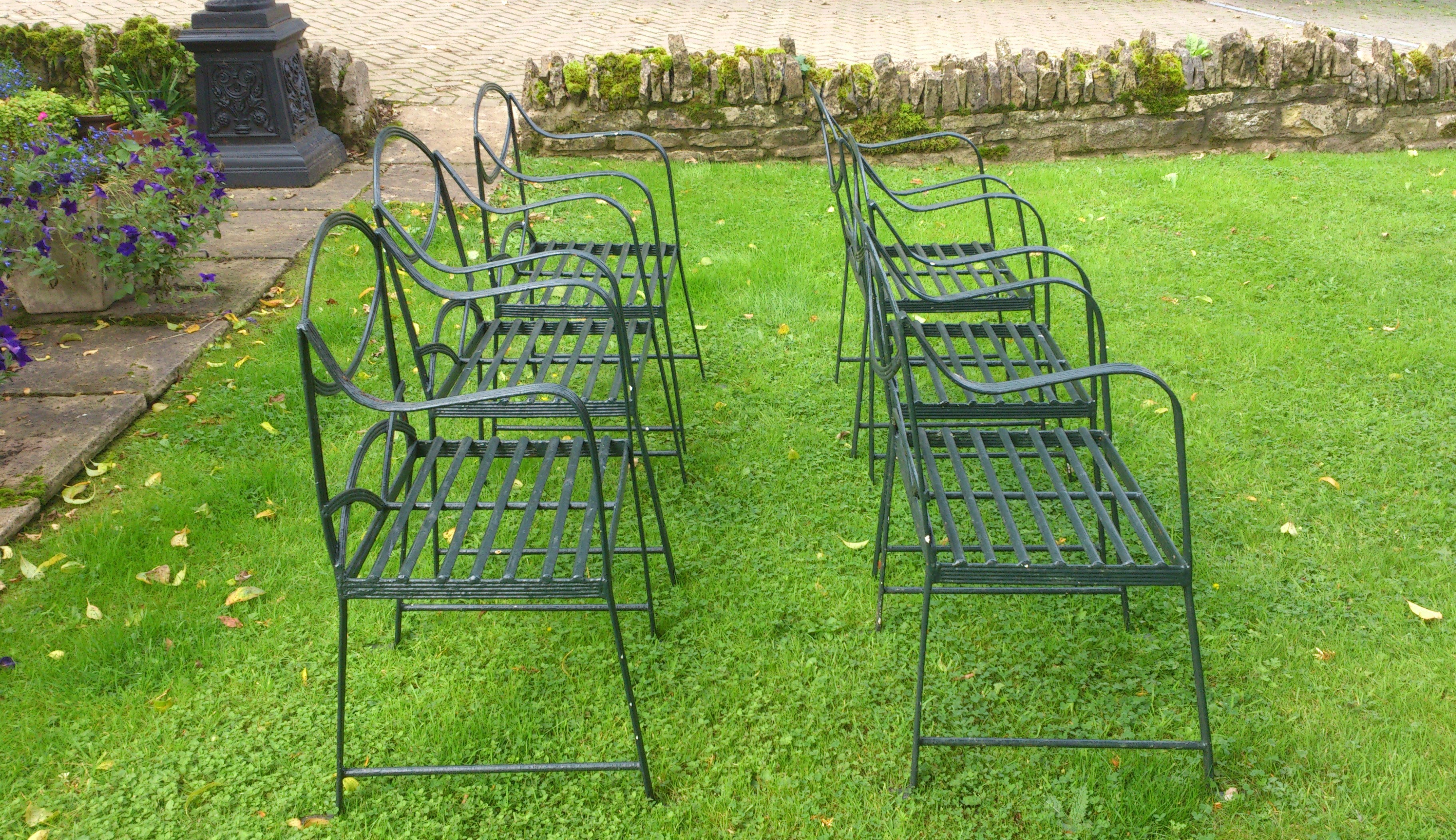 Brilliant Set Of Six Hand Made Wrought Iron Garden Chairs In The Regency Style Download Free Architecture Designs Rallybritishbridgeorg
