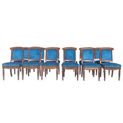 Set of 12 Comfortable Dining Chairs from 1860