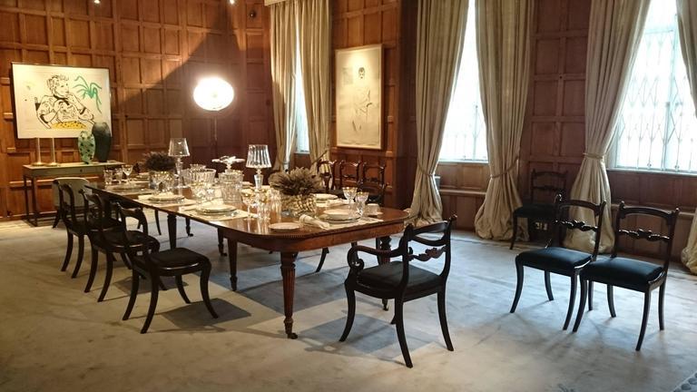 Large Regency Antique Extending Oak DIning Table 1