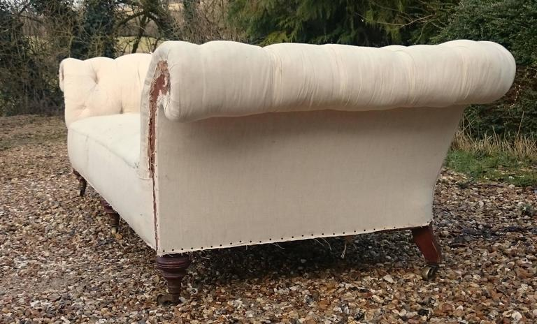 Huge Victorian Antique Chesterfield Sofa Made by Howard and Sons of London 4