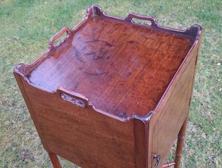 18th Century and Earlier 18th Century George III Period Mahogany Bedside Cupboard For Sale
