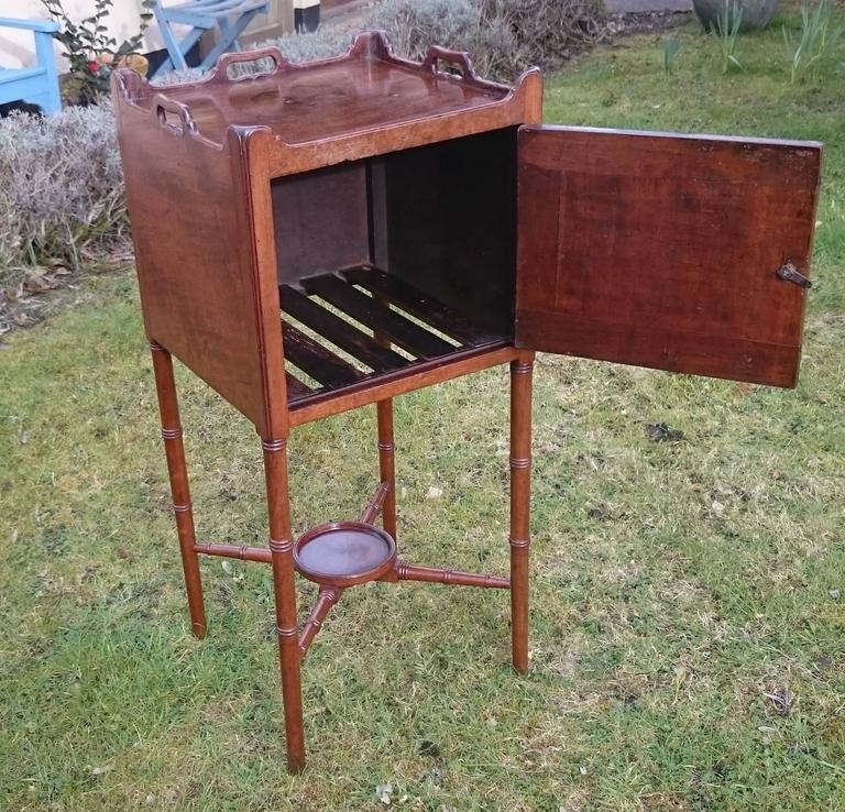 18th Century George III Period Mahogany Bedside Cupboard For Sale 1