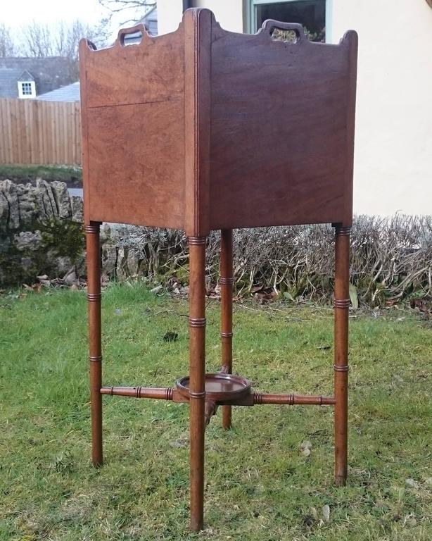18th Century George III Period Mahogany Bedside Cupboard For Sale 2