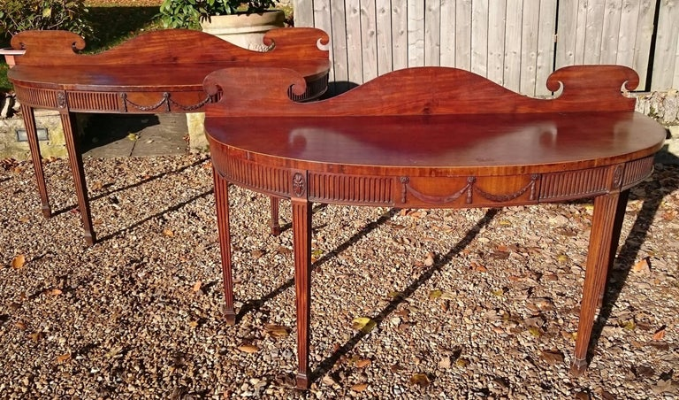 Pair of Early 19th Century George III Period Mahogany Console Serving Tables For Sale 2