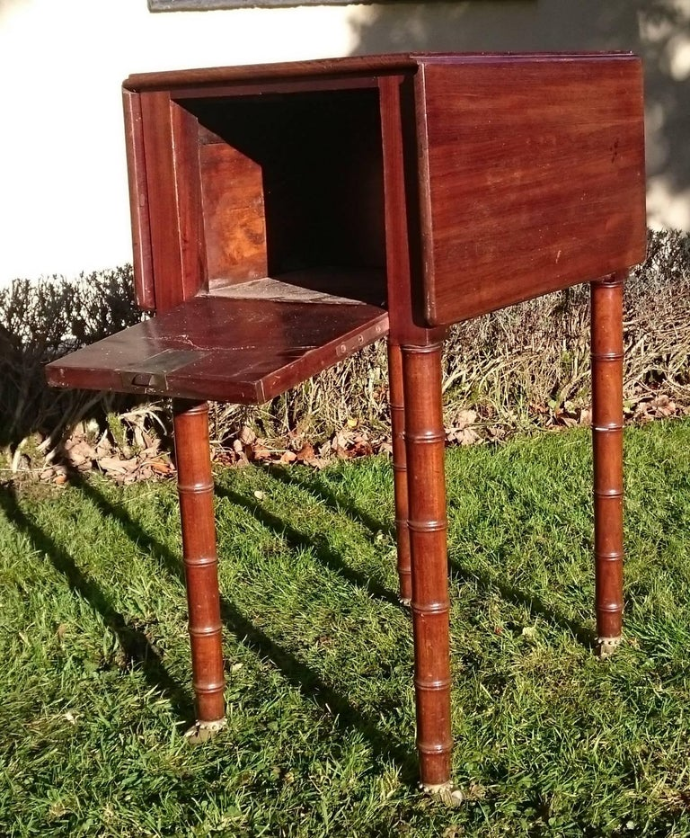 British Early 19th Century Regency Period Mahogany Bedside Cupboard Nightstand For Sale