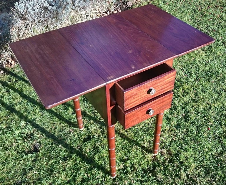 Early 19th Century Regency Period Mahogany Bedside Cupboard Nightstand For Sale 4