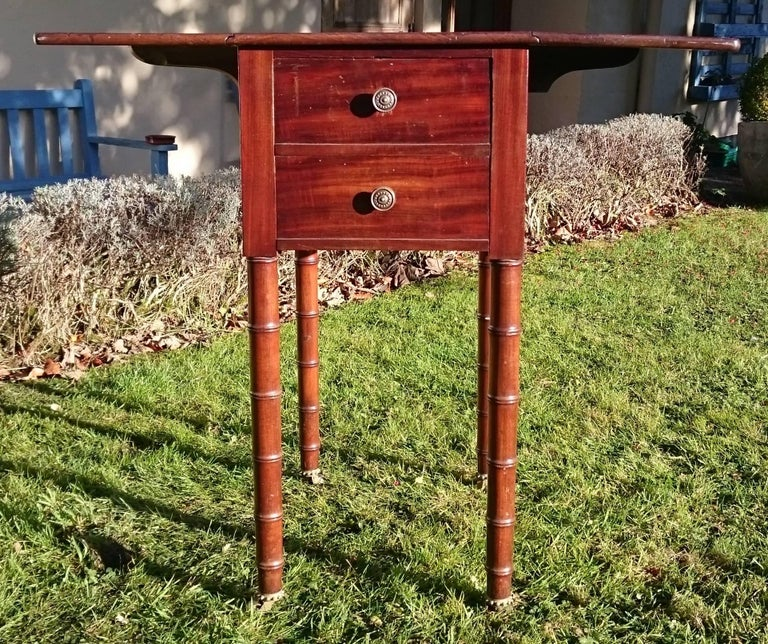 Early 19th Century Regency Period Mahogany Bedside Cupboard Nightstand For Sale 1