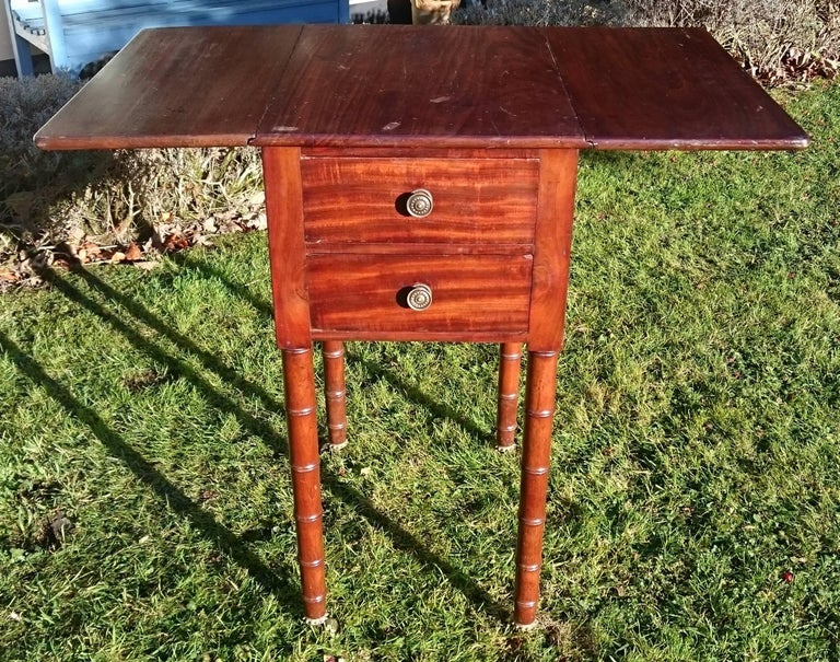 Early 19th Century Regency Period Mahogany Bedside Cupboard Nightstand For Sale 3
