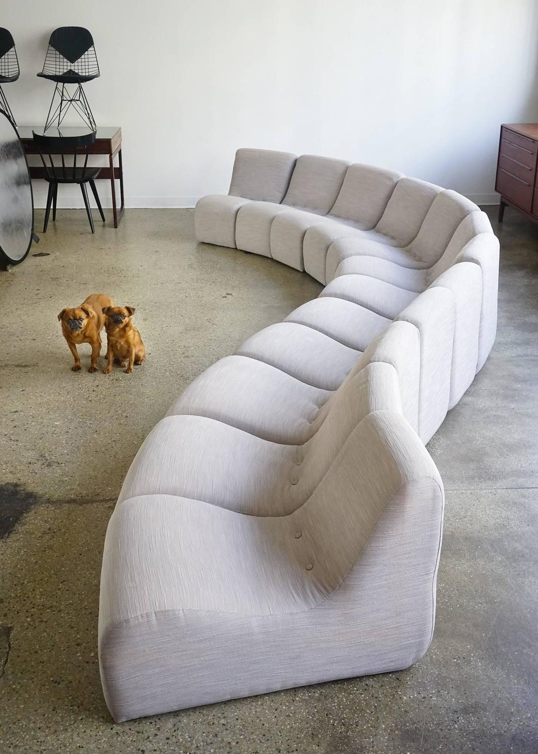 Serpentine sectional by milo baughman for sale at 1stdibs for High end sofas for sale