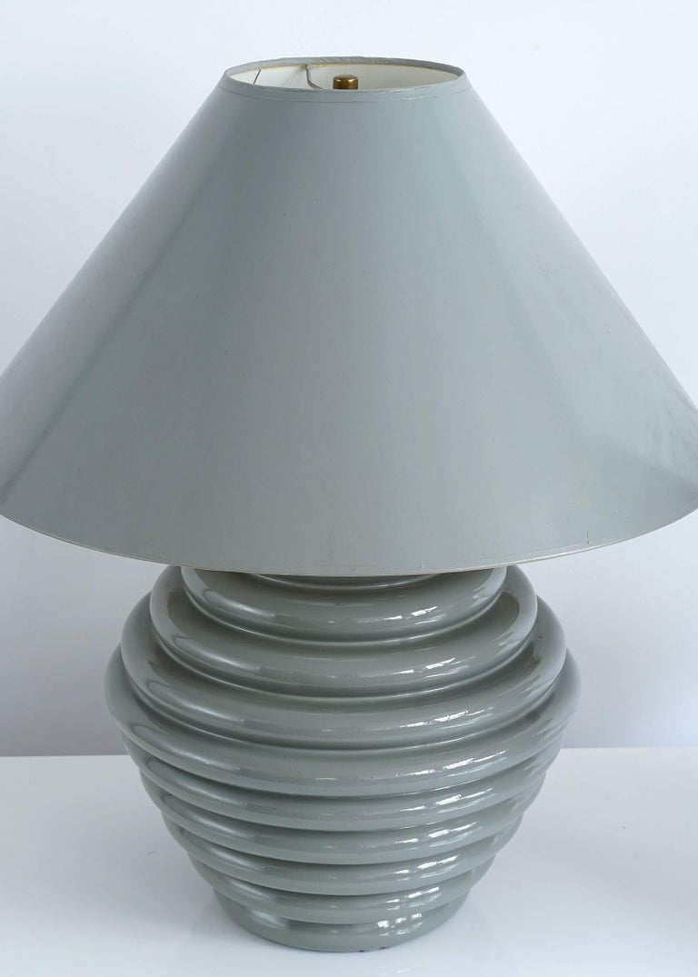 Metal 1980s Postmodern Ceramic Lamps For Sale