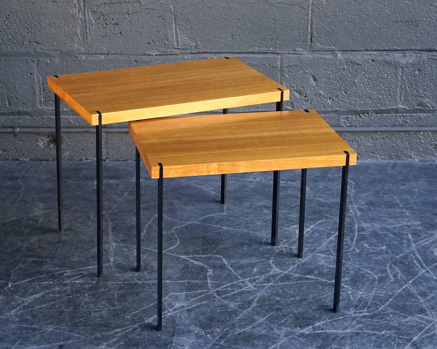 Lotos Nesting Tables For Sale At 1stdibs. Full resolution‎  image, nominally Width 1500 Height 1200 pixels, image with #C57406.