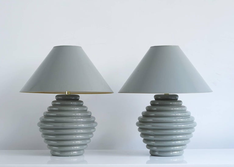 American 1980s Postmodern Ceramic Lamps For Sale