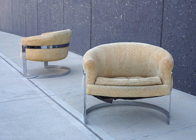 Bernhardt Flair Division Lounge Chairs Attributed To Milo