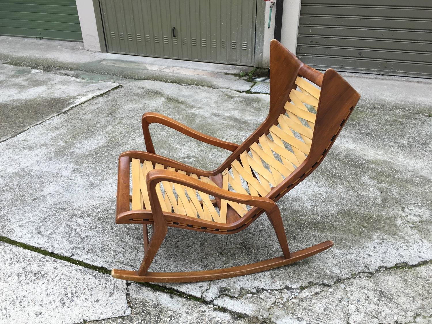 Rocking Chair By Gio Ponti Manufactured By Cassina At 1stdibs