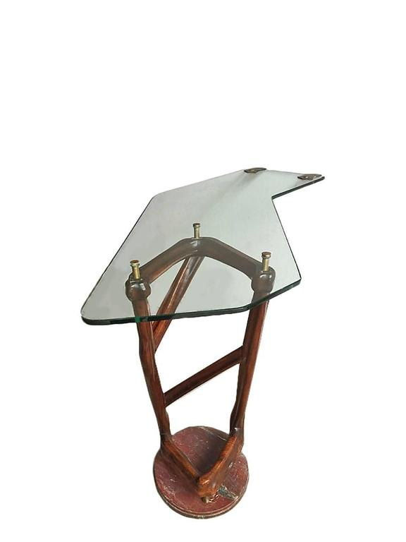 Italian Spectacular Sculpture Console, Design School Torinese, 1940 For Sale