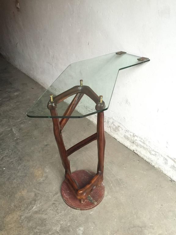 Spectacular Sculpture Console, Design School Torinese, 1940 For Sale 1